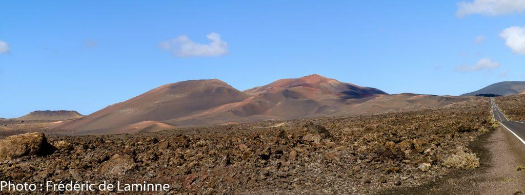 Les Montagnes de Feu, parc de Timanfaya près de Yaiza (LZ-67), Lanzarote. Photo : Frédéric de Laminne