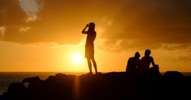 Coucher de soleil près de Punta Pechiguera, Playa Blanca