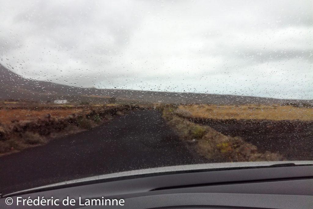 Quelques gouttes de pluie à Lanzarote en juin 2018