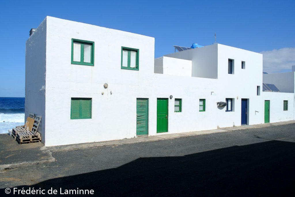Maison du village de Tenesar , Lanzarote. Photo : Frédéric de Laminne