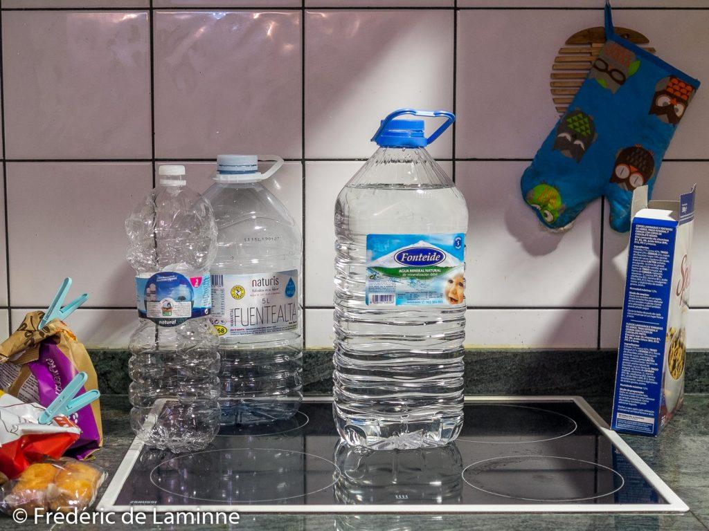 Bouteilles d'eau minérale, Lanzarote