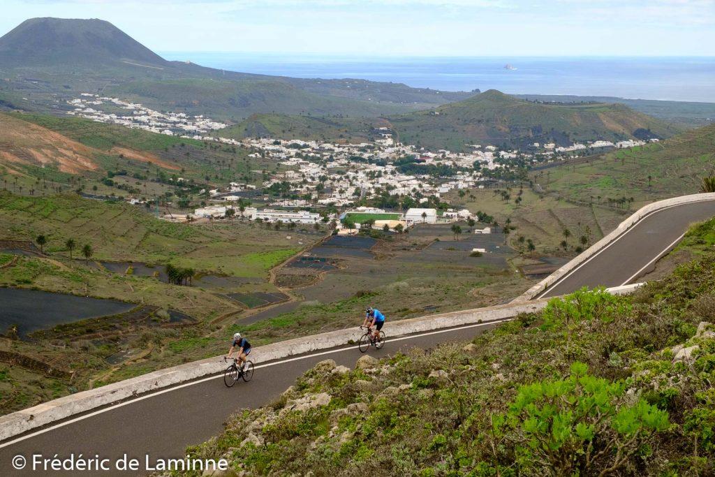 La vallée de Haria est l'un des endroits les plus verdoyant de Lanzarote. Photo : Frédéric de Laminne