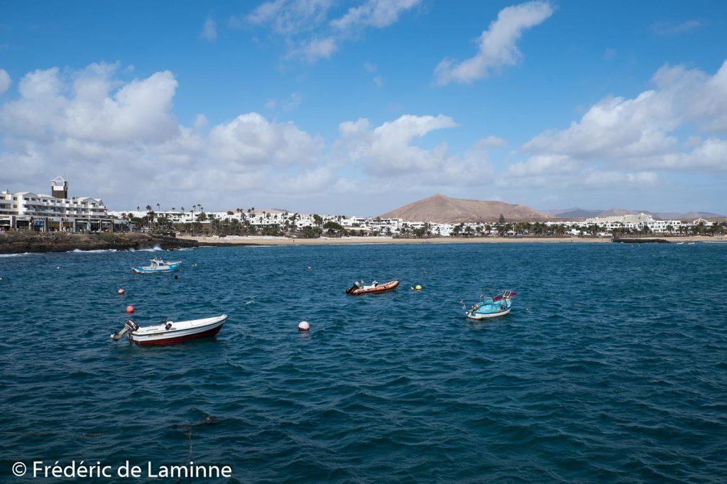 Playa Las Cucharas (Costa Teguise) sur l'île de Lanzarote, Canaries le 15/11/2019. Photo : Frédéric de Laminne