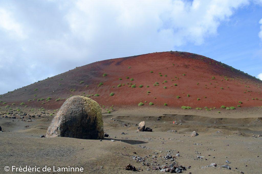 La Montana Colorada et la Bomba Volcanica près de Tinajo, Lanzarote