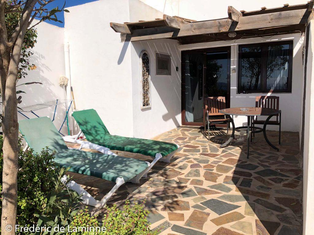 La terrasse du Studio Casa Blanca à Tias