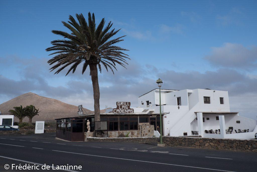 Restaurant grill Las Cadenas. Lanzarote, Canaries le 08/02/2020. Photo : Frédéric de Laminne
