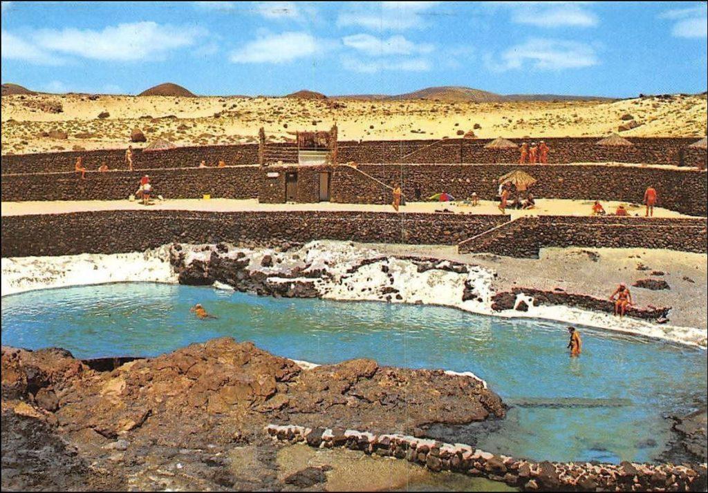Charco del Palo dans le temps (carte postale non datée, mais probablement 1980/1990)