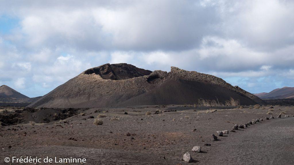 Le volcan El Cuervo sur l'île de Lanzarote, Canaries.