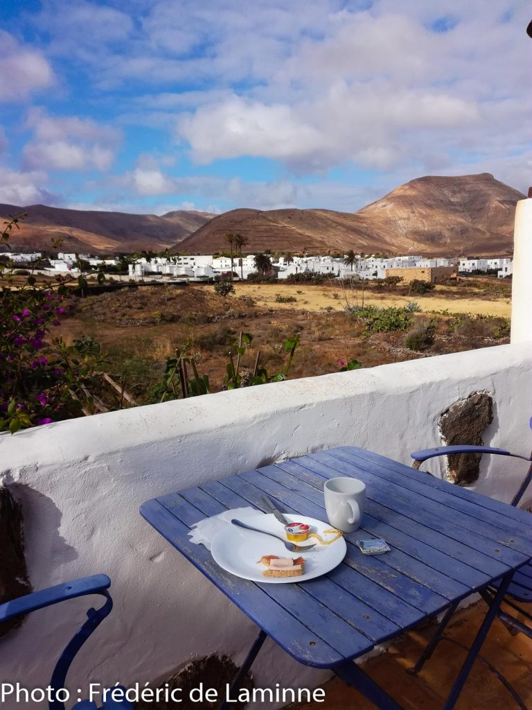 La vue depuis la terrasse de la Casa de Hilario où se prennent les petits déjeuners