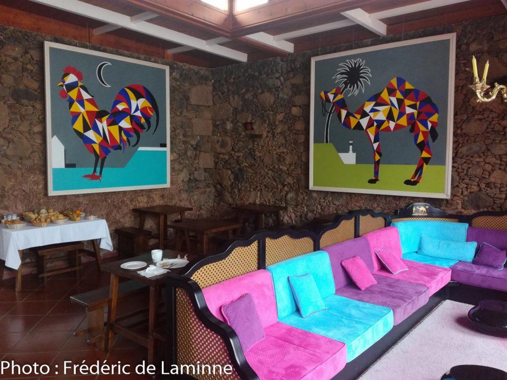 La salle des petits déjeuners / salle à manger de l'Hôtel Casa de Hilario à Yaiza