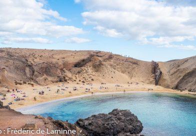 Plage de Papagayo près de Playa Blanca sur l'île de Lanzarote, Canaries le 18/11/2019. Photo : Frédéric de Laminne