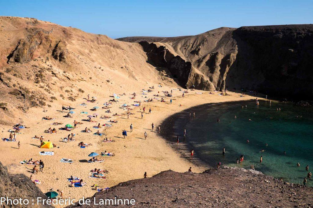 Plages de Papagayo (Playa Blanca) sur l'île de Lanzarote, Canaries le 01/09/2020. Photo : Frédéric de Laminne