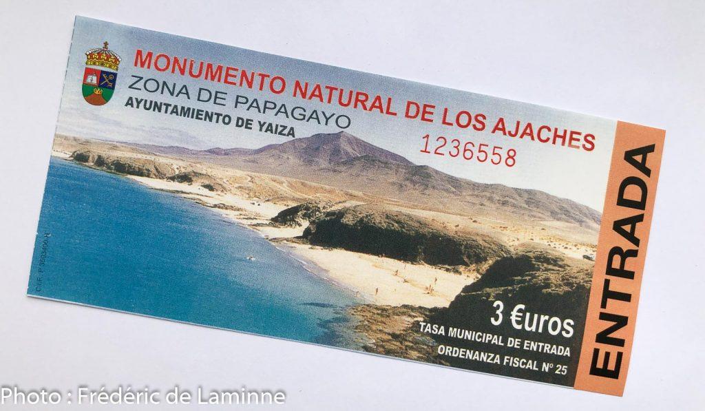 Ticket d'entrée plages de Papagayo Los Ajache