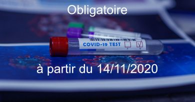 test covid obligatoire
