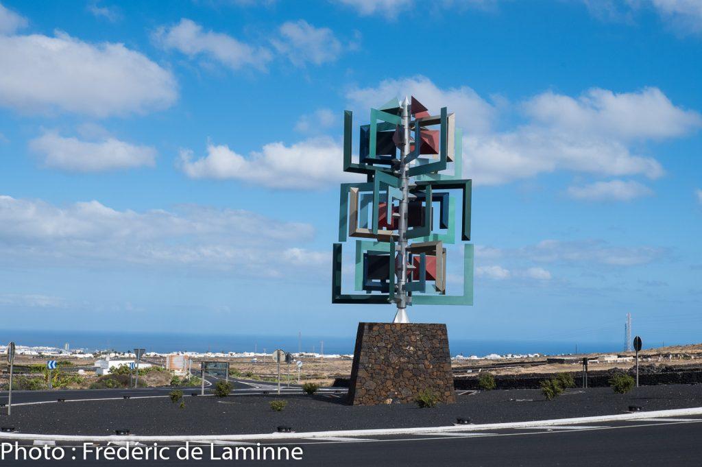 Décoration de rond point, Lanzarote.