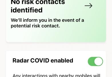 Radar Covid, l'application de traçage / suivi de contacts espagnole