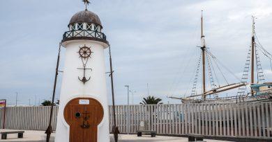 Phare d'Arrecife monument aux victimes de l'attaque du Cruz del Mar, un navire dont une partie de l'équipage a été fusillée près des côtes de la Mauritanie.