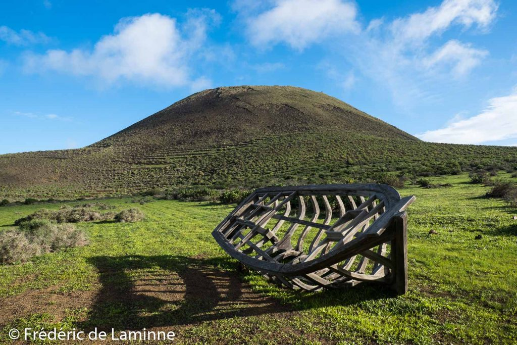Le Volcan de la Corona sur l'île de Lanzarote, Canaries le 06/01/2021. Photo : Frédéric de Laminne
