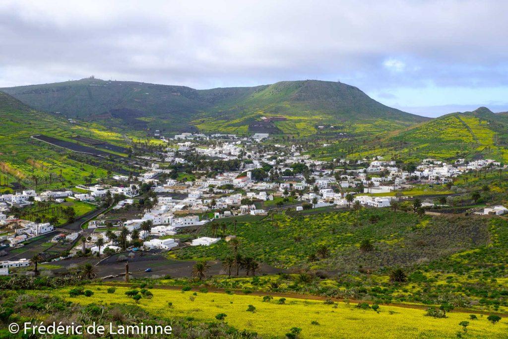 La ville d'Haria est cernée de tapis verts et jaunes