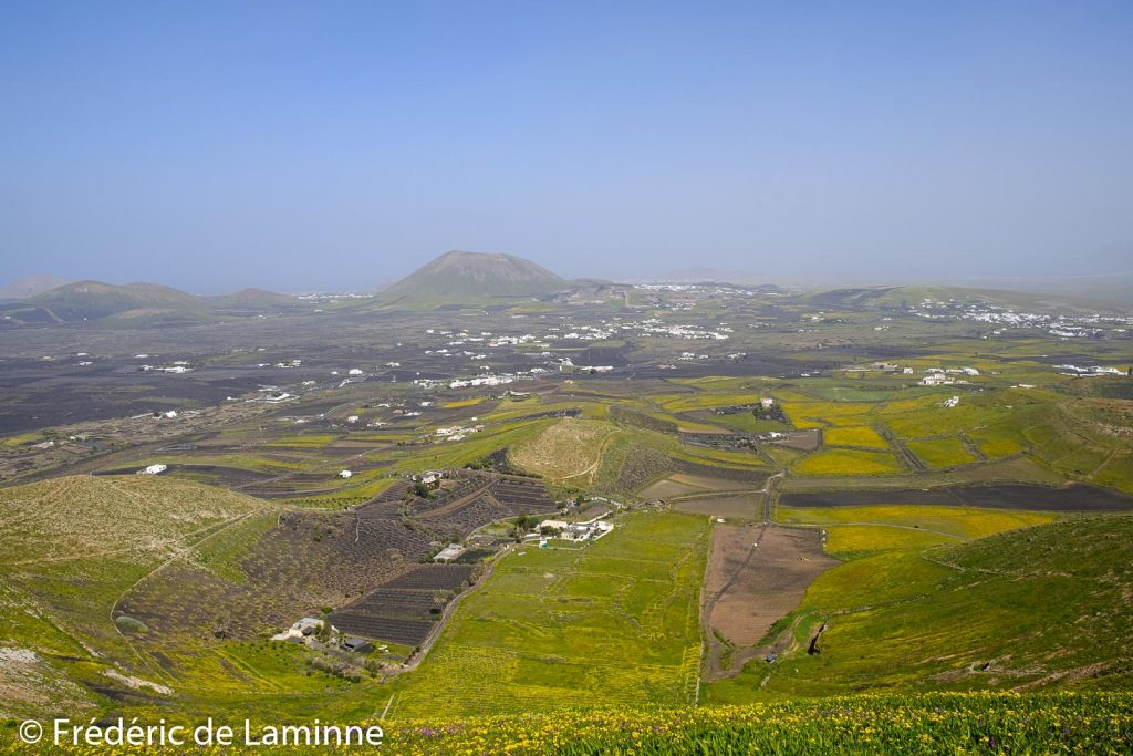 Depuis la Montana Guatisea (San Bartolomé) en regardant vers Soo / Famara.