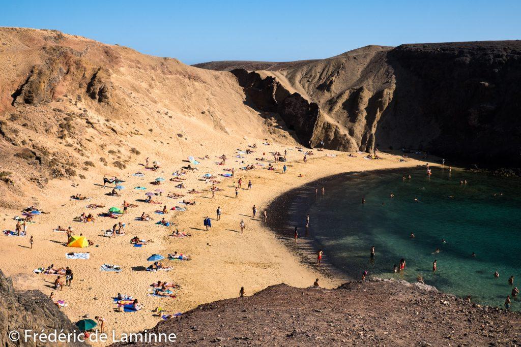 Plages de Papagayo (Playa Blanca) sur l'île de Lanzarote, Canaries le 01/09/2020